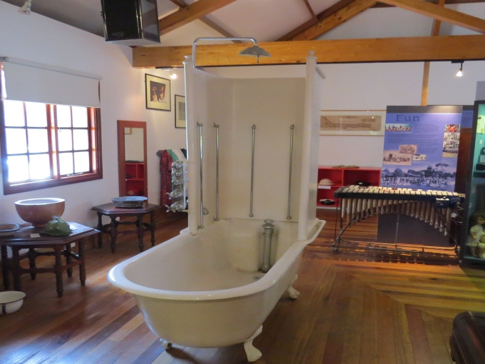 old bathtub at st. helena island museum