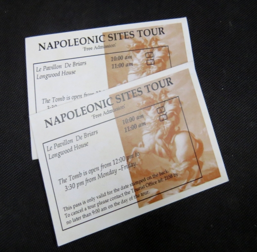 tickets for napoleon tour on st. helena island