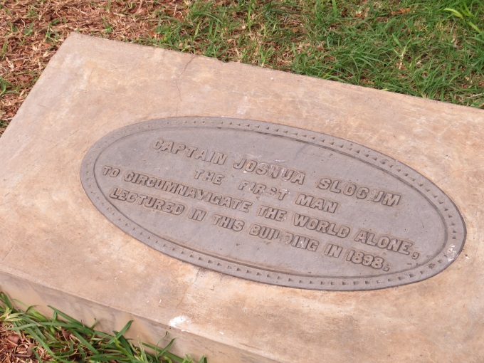 josh slocum plaque on st. helena island