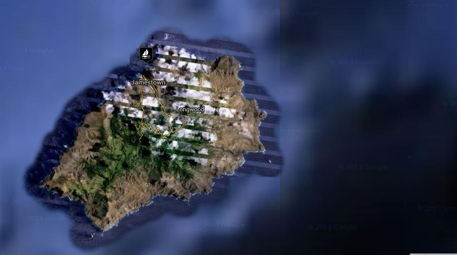google map of st helena