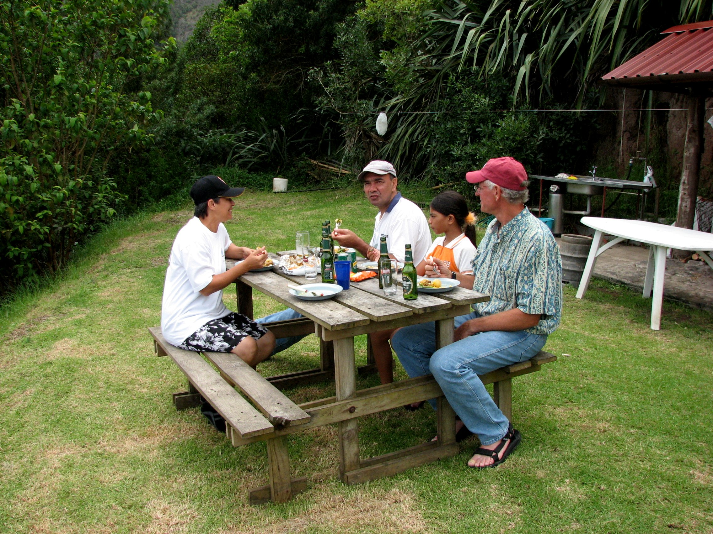 picnic on sandy bay st. helena island