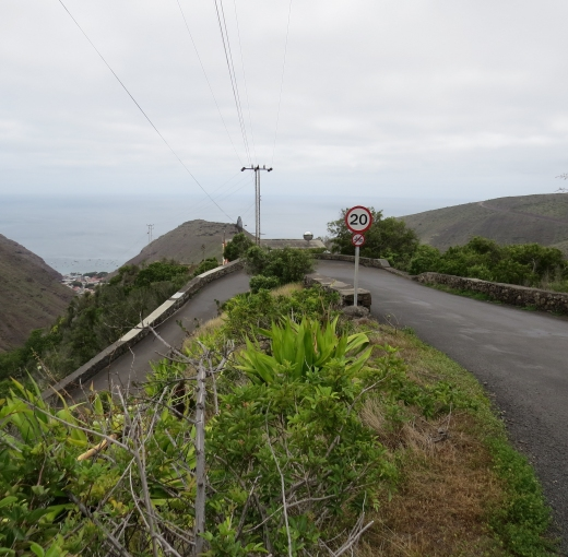 hairpin turn on st. helena island