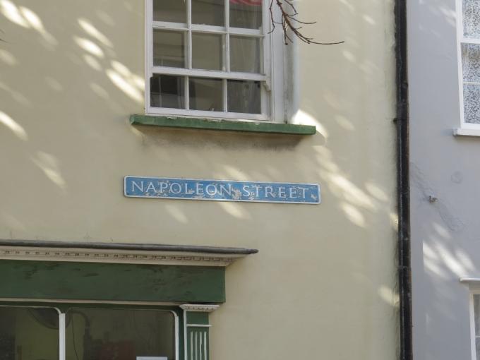 napoleon street on st. helena island