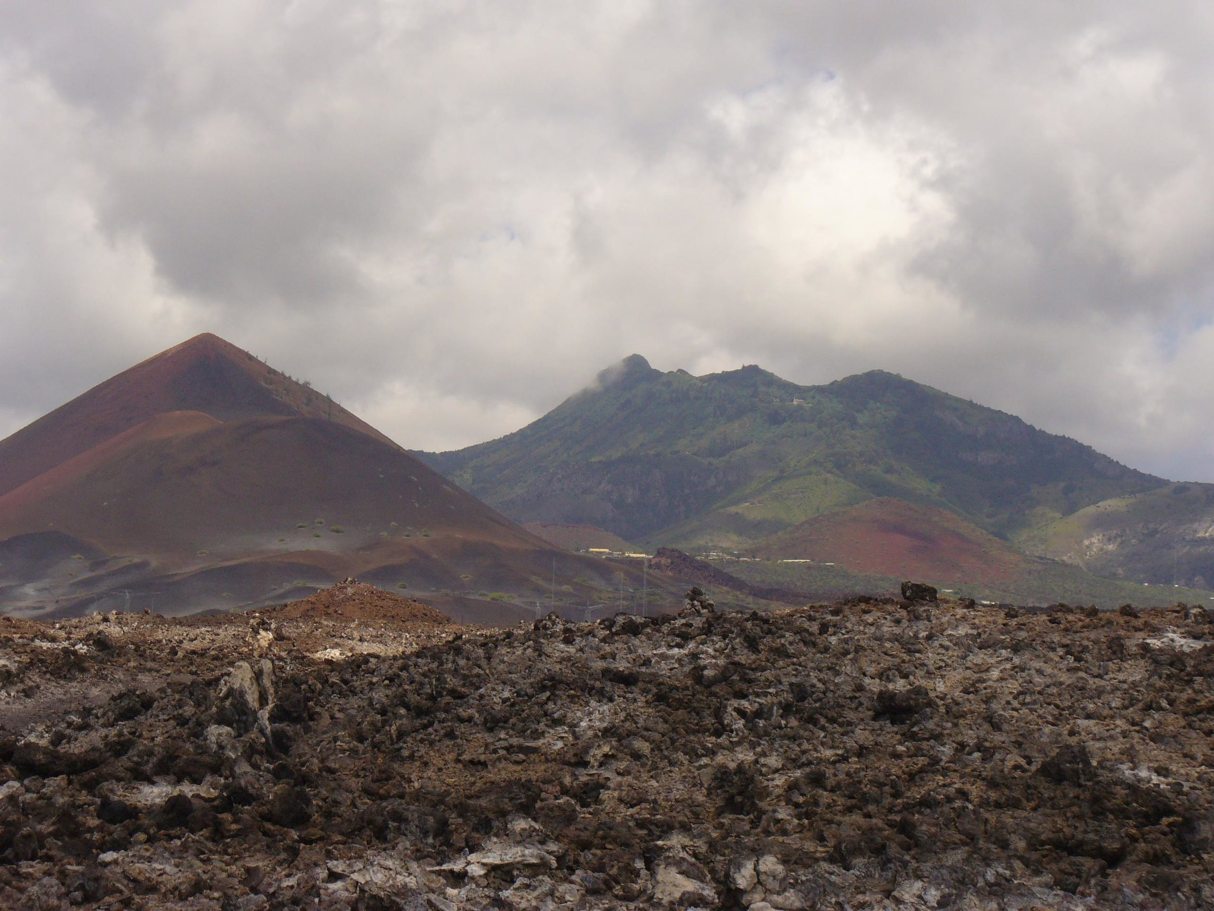 volcanic rubble on ascension island