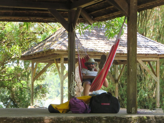 ric in the hammock on ile aux lepreux