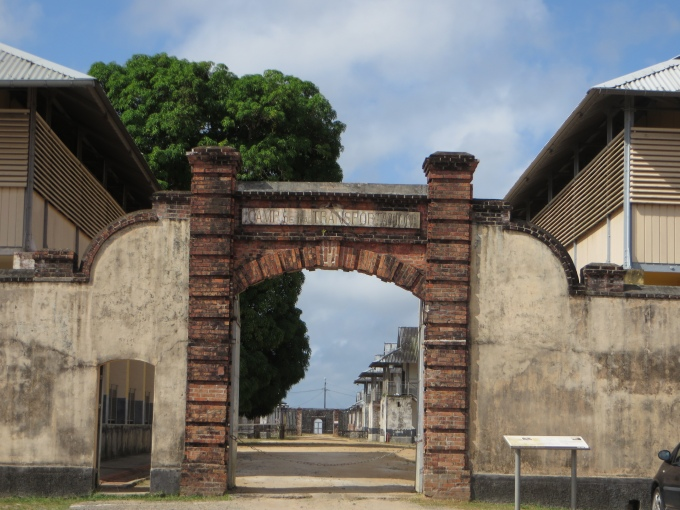 entrance to camp de la transportation french guiana