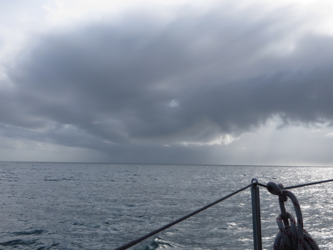 squall approaching off coast of french guiana