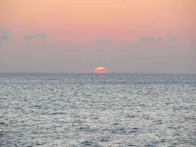 last of the sun off the coast of french guiana