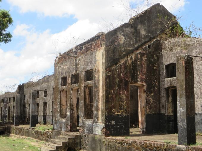death row at camp de la transportation french guiana