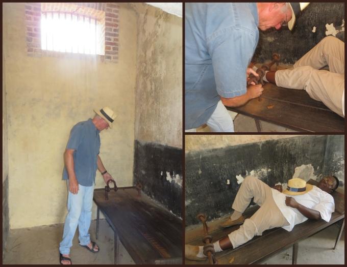 shackled at camp de la transportation french guiana
