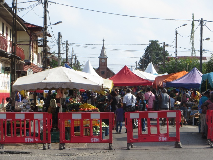 street closed on market day