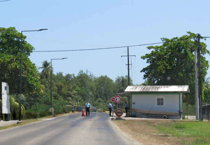 border check at french guiana