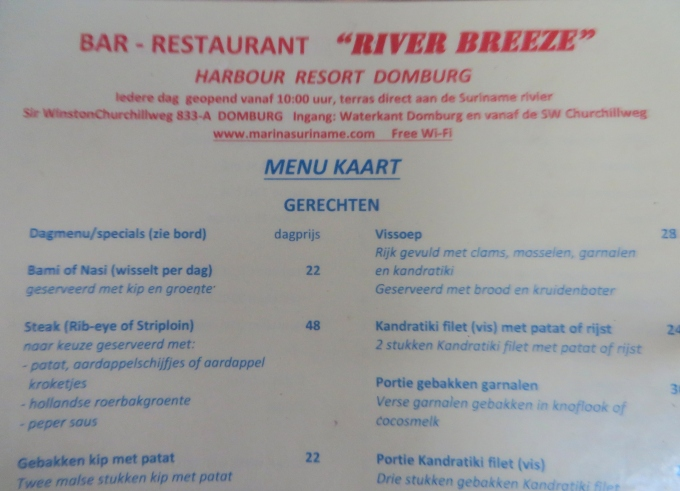 suriname menu