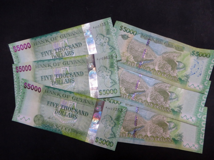 5c notes in guyana currency