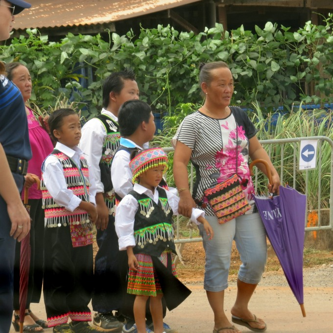 hmong family in traditional dress french guiana