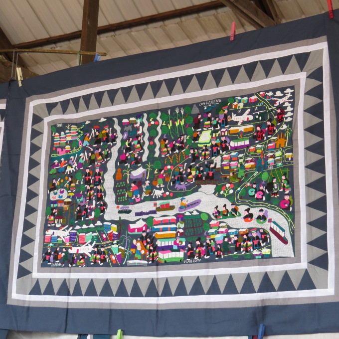 hmong tapestry in french guiana