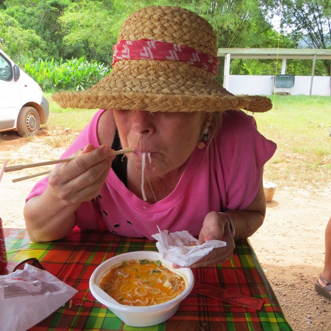 slurping pho in french guiana