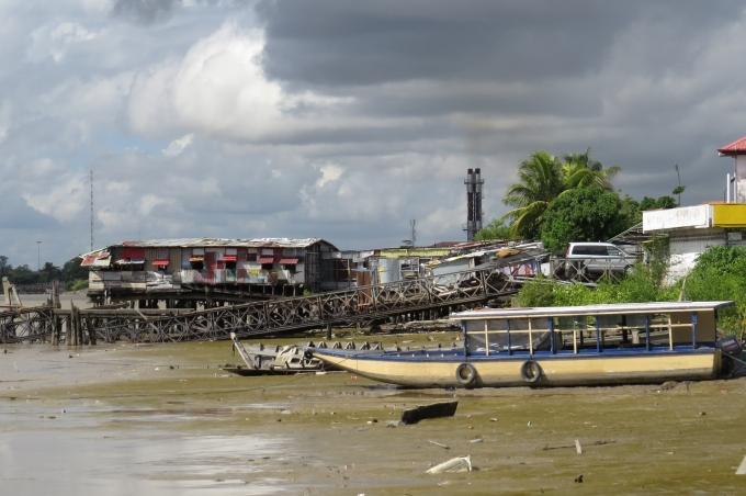 dilapidated wharf in paramaribo