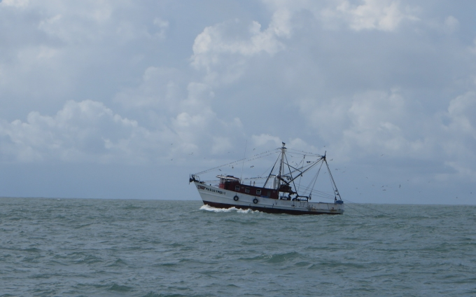 fishing boat in guyana