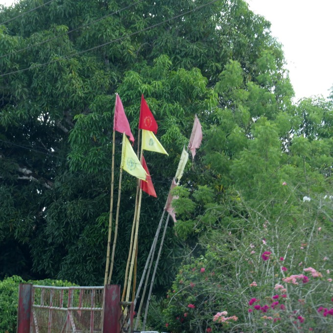 hindu prayer flags in suriname