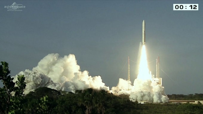 ariane space launch