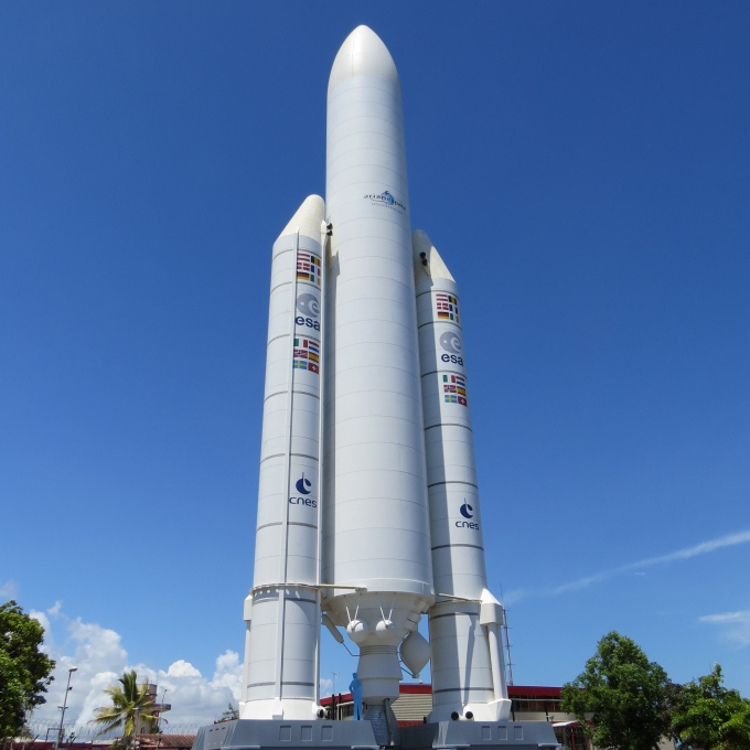 replica of ariane rocket