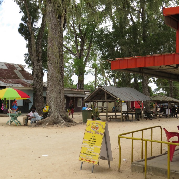 domburg square on the suriname river