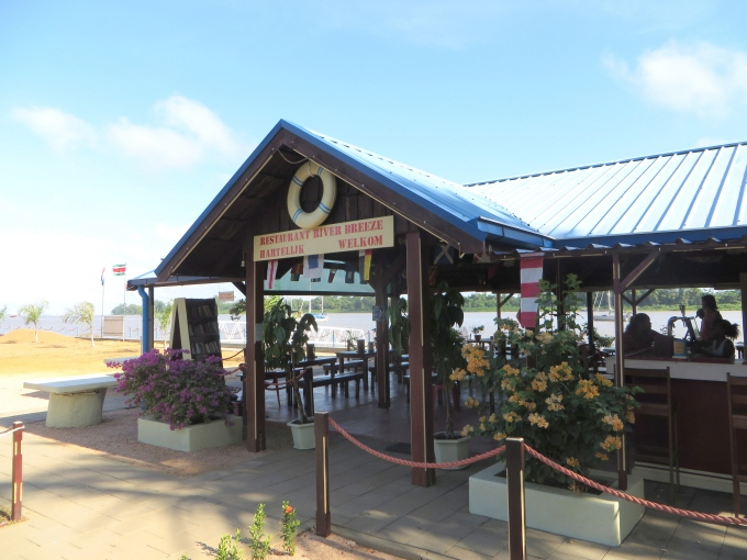 river breeze restaurant on the suriname river
