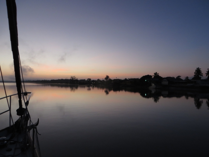 sunrise on the suriname river