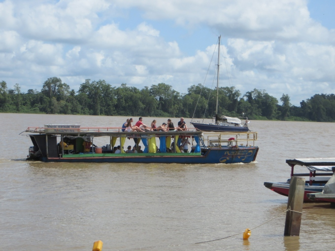 suriname river tourist boat