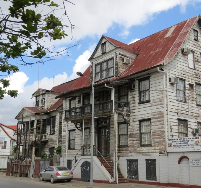 another dilapidated house in paramaribo