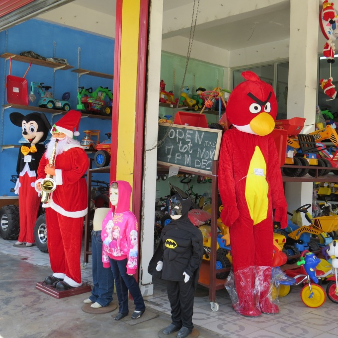 angry birds and mickey mouse in suriname