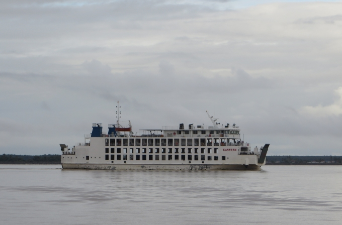 bartica ferry on the essequibo