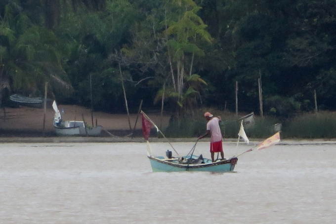 fisherman on essequibo river