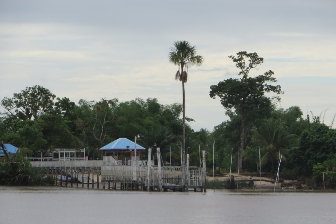 private pier on the essequibo river