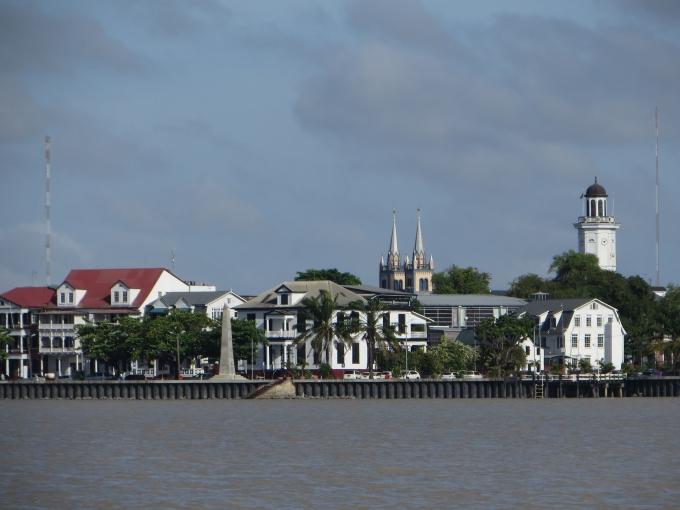 paramaribo suriname shoreline