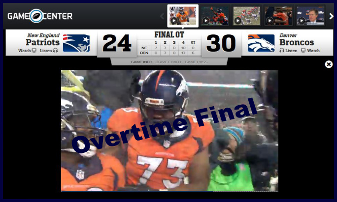 final of the broncos patriots game