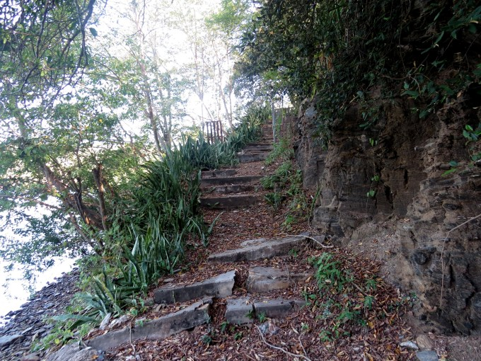 stone step path on chacachacare island