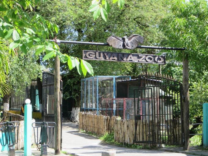 guyana zoo entrance in georgetown