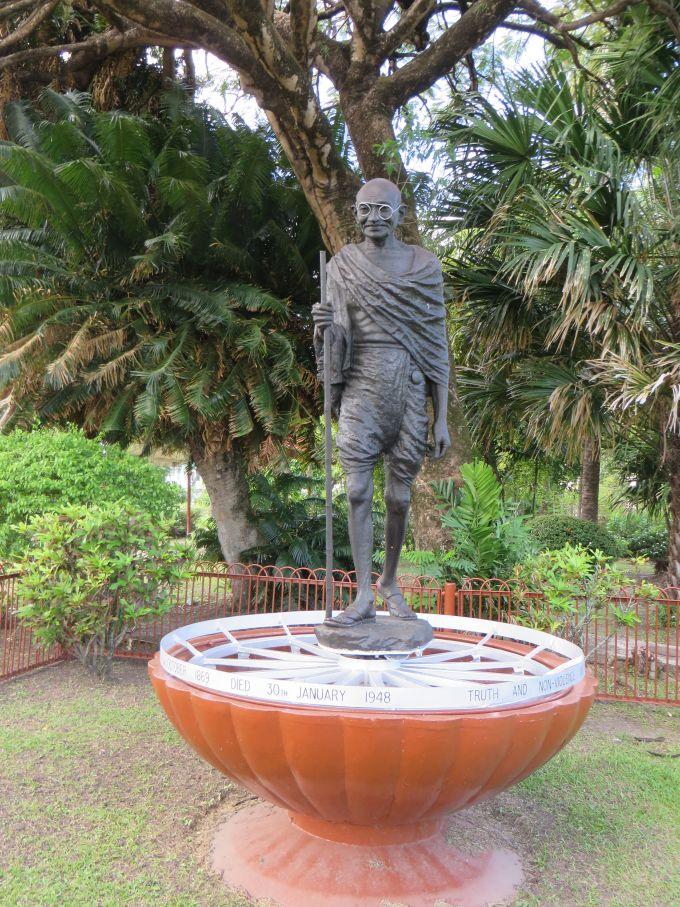 ghandi statue georgetown guyana