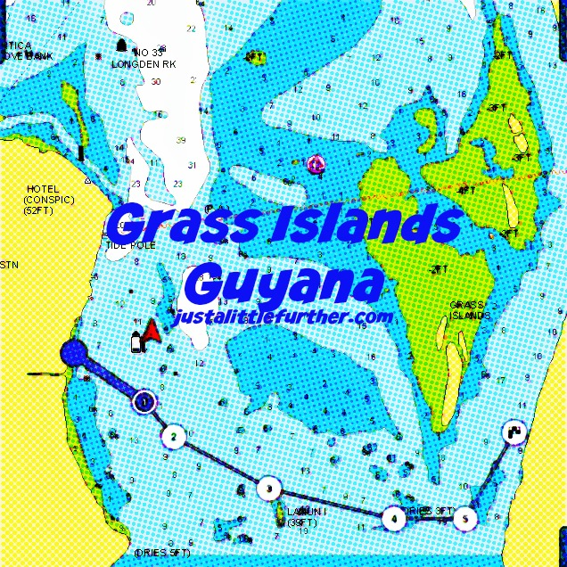 grass islands graphic