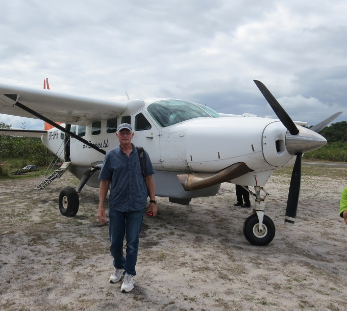 david by the plane in guyana