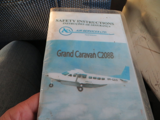 safety card on the grand caravan single prop