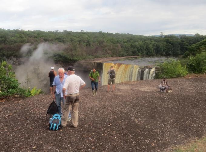 no rails around the falls in guyana