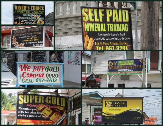 we buy gold signs in guyana