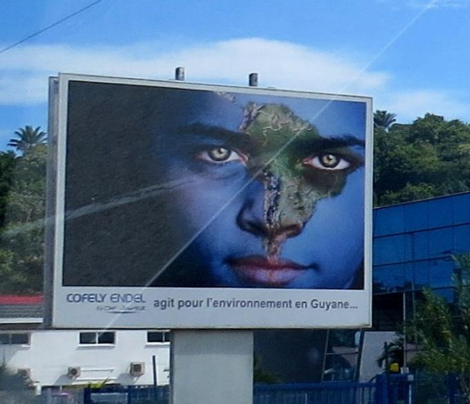 cool billboard in french guiana