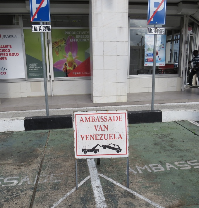 ambassador parking only
