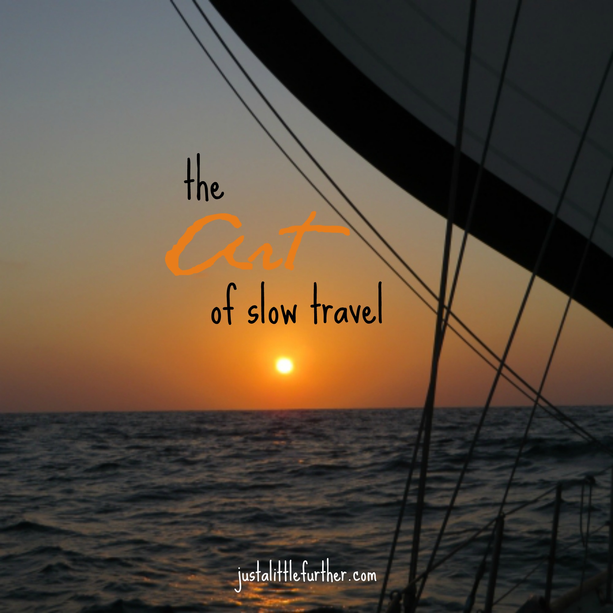 art of slow travel graphic