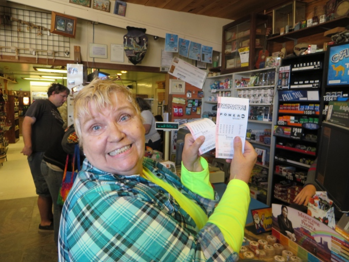 mary with the lotto tickets in dolan springs