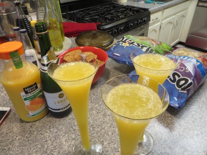 mimosas and snacks